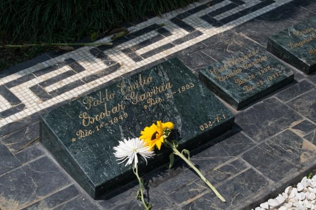 Pablo Escobar's grave